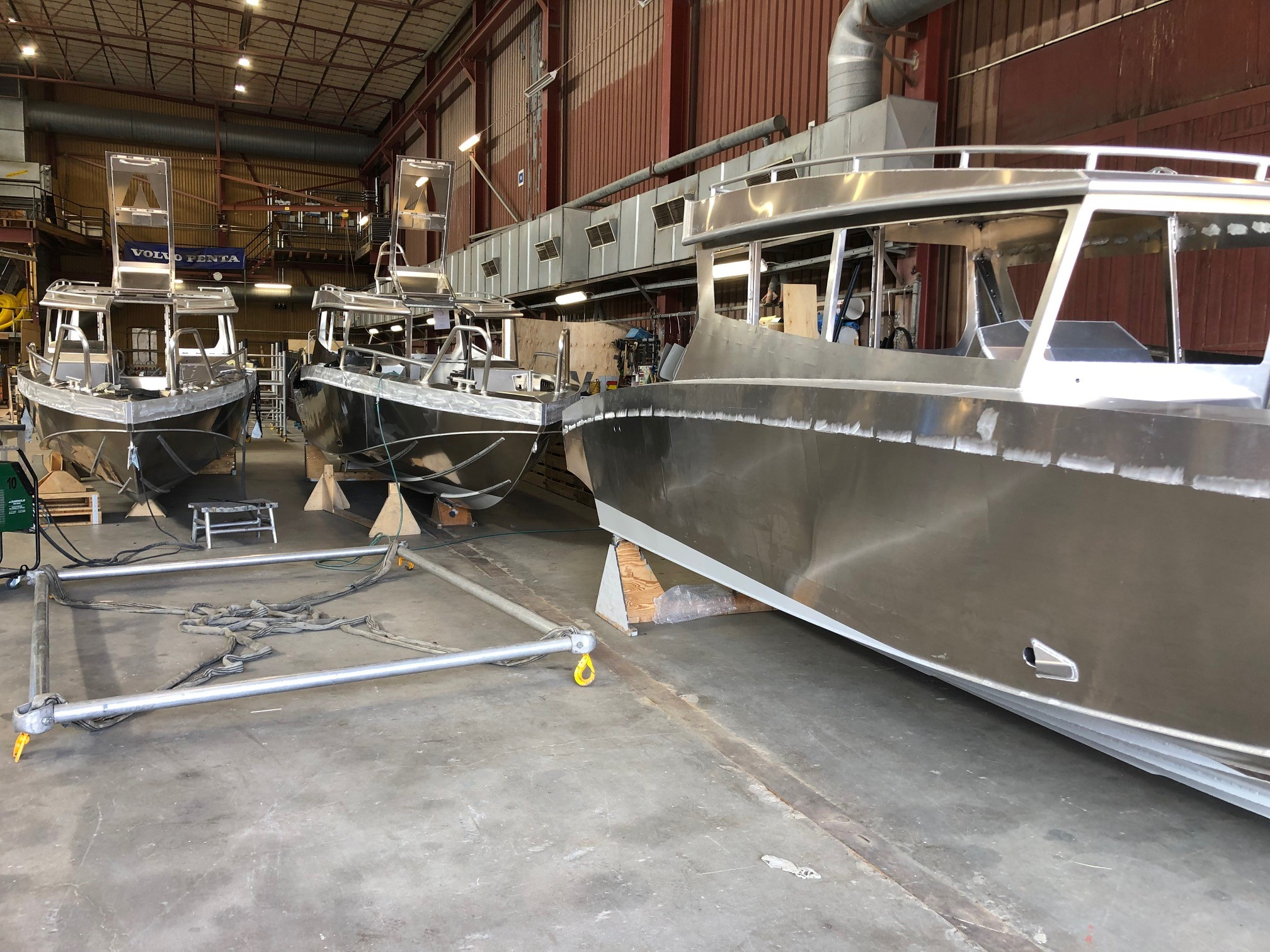 Viggo Boats painted with Seaboost Overdrive 100% biocide free antifouling