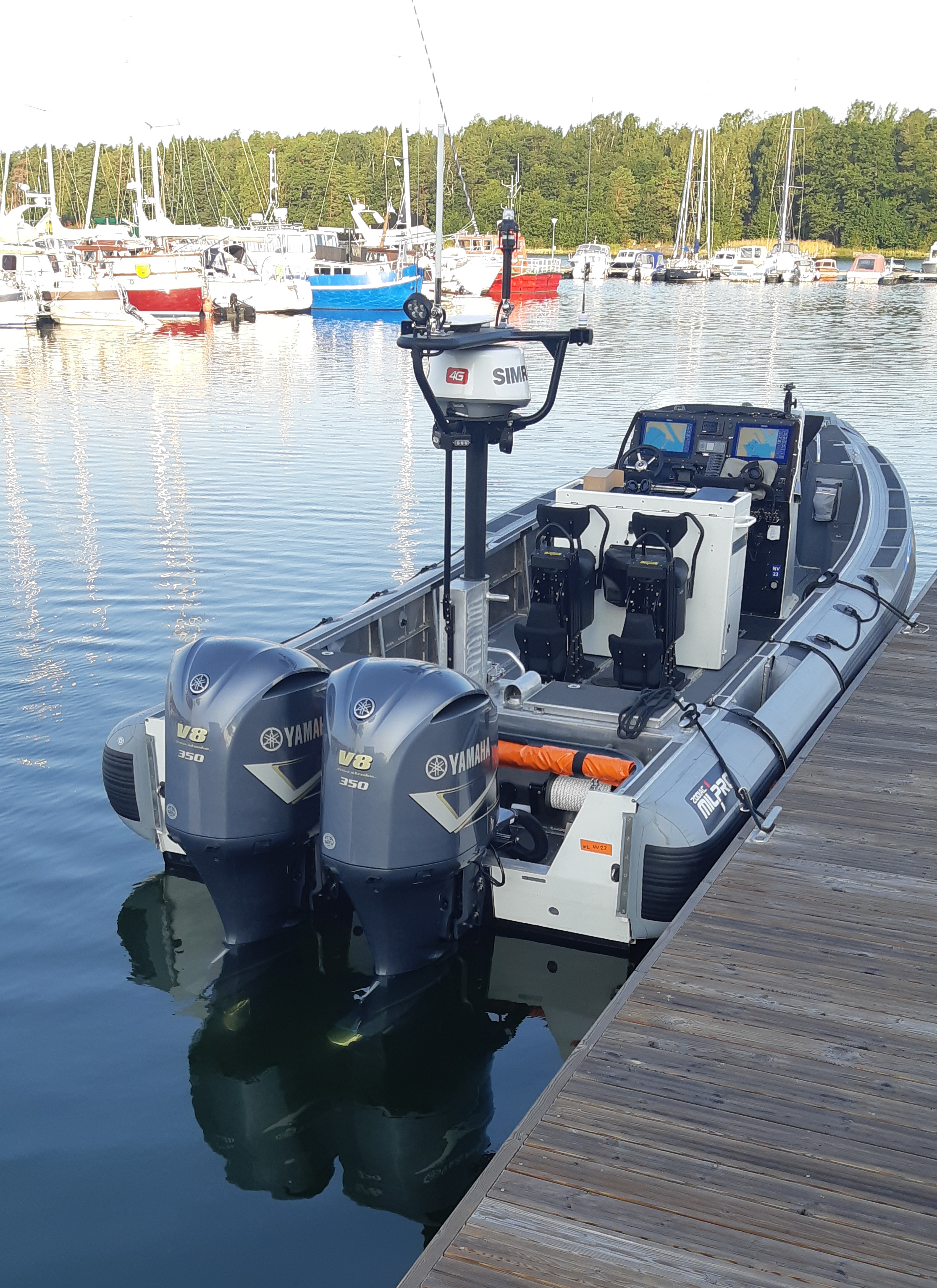 100% PRO Finnish Coast Gard new patrol boat with 100% biocide free Seaboost Overdrive antifouling paint.