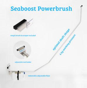 Seaboost Powerbrush veneen pohja harja puhdistaa veneesi pohjan kaikenlaisesta kasvustosta kuten levästä ja merirokosta